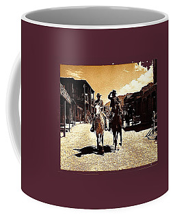 Film Homage Mark Slade Cameron Mitchell Riding Horses The High Chaparral Old Tucson Az C.1967-2013 Coffee Mug