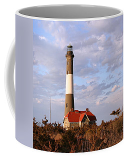 Coffee Mug featuring the photograph Fire Island Lighthouse by Karen Silvestri
