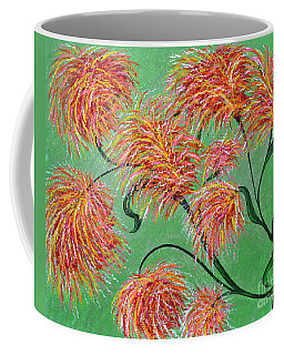 Coffee Mug featuring the painting Fireworks by Alys Caviness-Gober