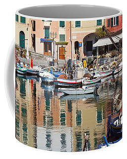 fishing boats in Camogli  Coffee Mug