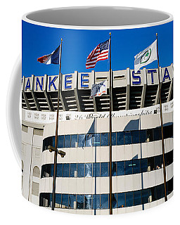 Flags In Front Of A Stadium, Yankee Coffee Mug
