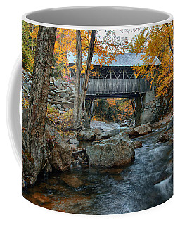 Coffee Mug featuring the photograph Flume Gorge Covered Bridge by Jeff Folger