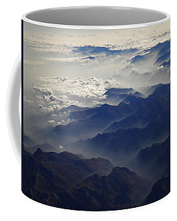 Flying Over The Alps In Europe Coffee Mug