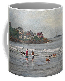 Fog Rolling In On Good Harbor Beach Coffee Mug by Eileen Patten Oliver