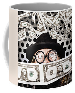 Fortune 500 Businessman Covered In Us Dollars Coffee Mug