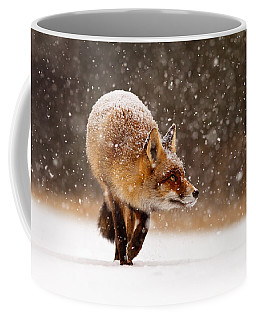 Fox First Snow Coffee Mug