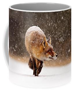 Fox First Snow Coffee Mug by Roeselien Raimond