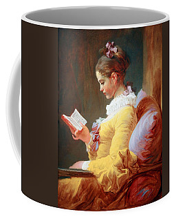 Coffee Mug featuring the photograph Fragonard's Young Girl Reading by Cora Wandel