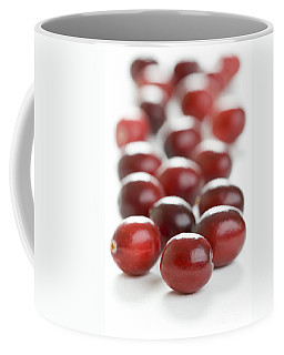 Coffee Mug featuring the photograph Fresh Cranberries Isolated by Lee Avison