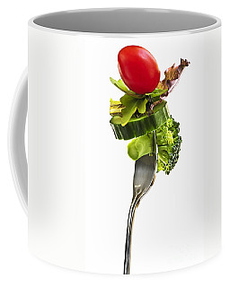 Fresh Vegetables On A Fork Coffee Mug