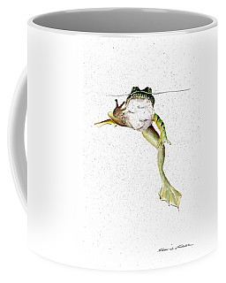 Frog On Waterline Coffee Mug