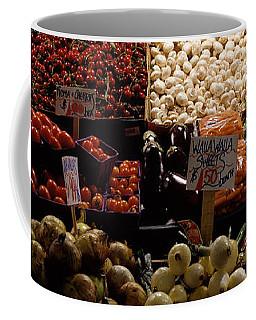 Fruits And Vegetables At A Market Coffee Mug