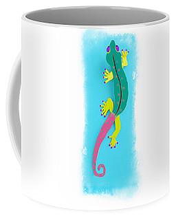 Coffee Mug featuring the mixed media Gecko Two by Deborah Boyd