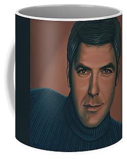 George Clooney Painting Coffee Mug