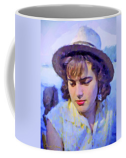 German Girl On The Rhine Coffee Mug