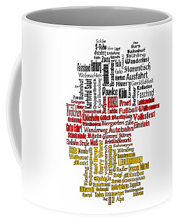 Germany Map Coffee Mug