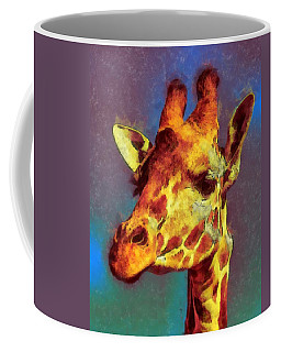 Giraffe Abstract Coffee Mug