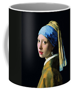 Girl With A Pearl Earring Coffee Mug by Jan Vermeer