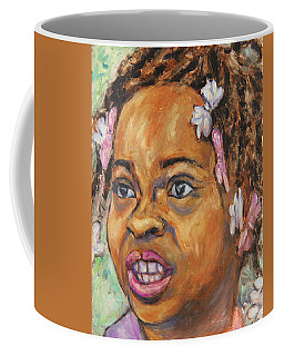 Coffee Mug featuring the painting Girl With Dread Locks by Xueling Zou