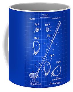 Golf Club Patent 1909 - Blue Coffee Mug by Stephen Younts