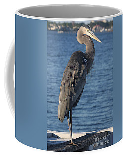 Coffee Mug featuring the photograph Great Blue Heron  by Christiane Schulze Art And Photography
