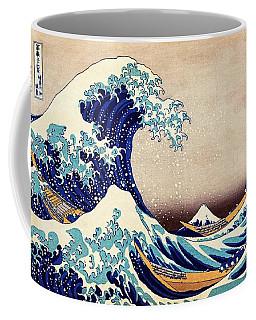 Great Wave Off Kanagawa Coffee Mug by Katsushika Hokusai