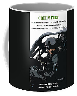 Green Feet Coffee Mug by Julio Lopez