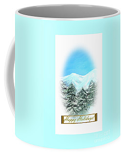 Coffee Mug featuring the digital art Happy Holidays by Oksana Semenchenko