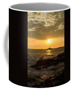 Hawaiian Waves At Sunset Coffee Mug