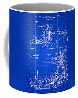 Helicopter Patent 1940 - Blue Coffee Mug