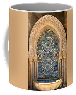 Coffee Mug featuring the photograph Holy Water Fountain Hassan II Mosque Sour Jdid Casablanca Morocco  by Ralph A  Ledergerber-Photography