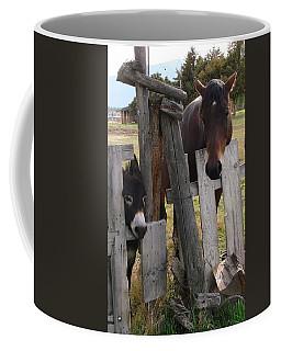 Coffee Mug featuring the photograph Horsing Around by Athena Mckinzie
