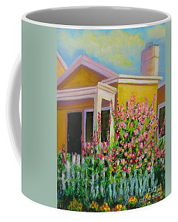 Hot Hollyhocks Coffee Mug