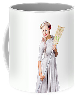 Housemaid With Broom Coffee Mug