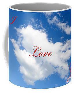 1 I Love You Heart Cloud Coffee Mug