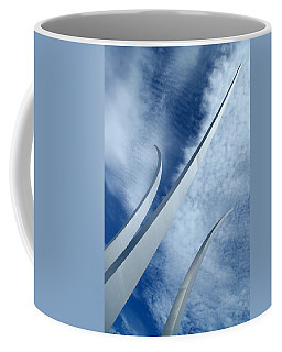Coffee Mug featuring the photograph Into The Clouds by Cora Wandel