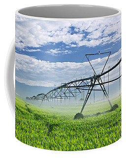 Irrigation Equipment On Farm Field Coffee Mug