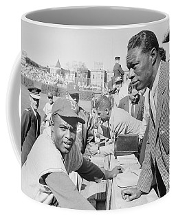 Jackie Robinson And Nat King Cole At Wrigley Field Coffee Mug