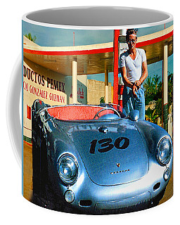 James Dean Filling His Spyder With Gas Coffee Mug by Doc Braham