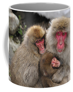 Japanese Macaque Mother With Young Coffee Mug