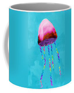 Coffee Mug featuring the painting Jelly The Fish by Deborah Boyd