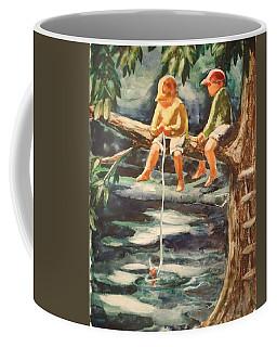 Jes Fishin Coffee Mug by Marilyn Jacobson