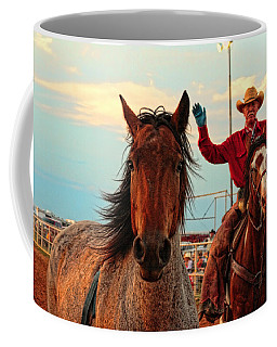 Johnnie And Zeke Coffee Mug by Toni Hopper