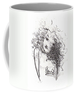 Coffee Mug featuring the drawing Just Me by Laurie Lundquist