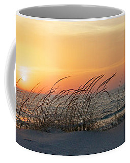Lake Michigan Sunset Panorama Coffee Mug