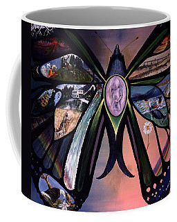 Coffee Mug featuring the painting Life Force by Lynn Buettner