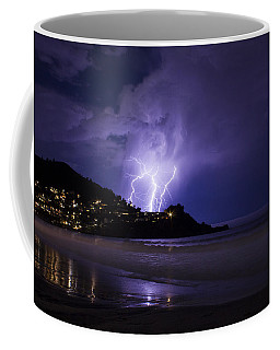 Lightning Over The Ocean Coffee Mug