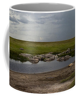 Coffee Mug featuring the photograph Lions In The Serengeti by J L Woody Wooden