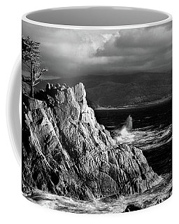 Lone Cypress On The Coast, Pebble Coffee Mug