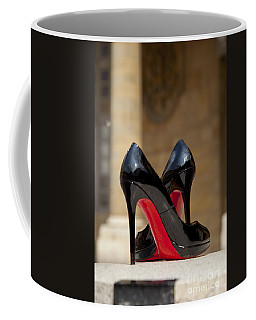 Coffee Mug featuring the photograph Louboutin Heels by Brian Jannsen